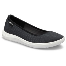 Crocs Reviva Flat Sandaler Damer, black/white